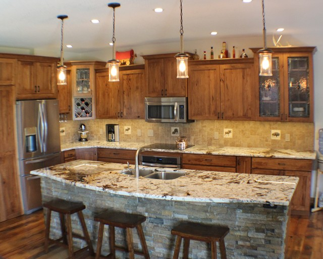 Rustic Finishes Reveal Hidden Storage Solutions Rustic Kitchen
