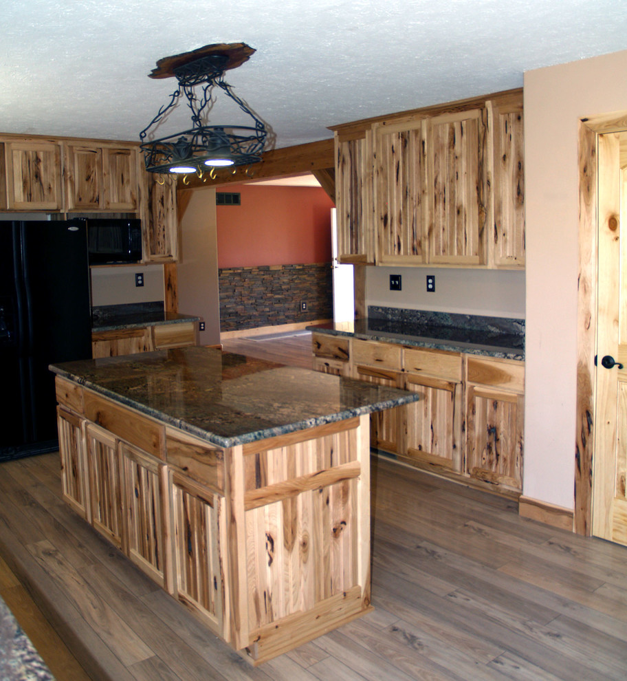 Rustic Hickory Kitchen Cabinets - Rustic - Kitchen ...
