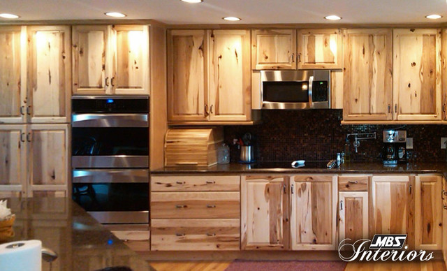 Rustic Hickory with Dual Wall Ovens - Rustic - Kitchen ...