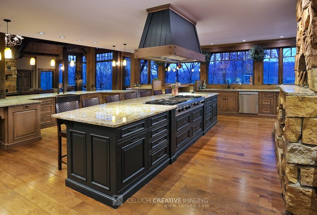 Rustic Hideout in the Woods rustic-kitchen