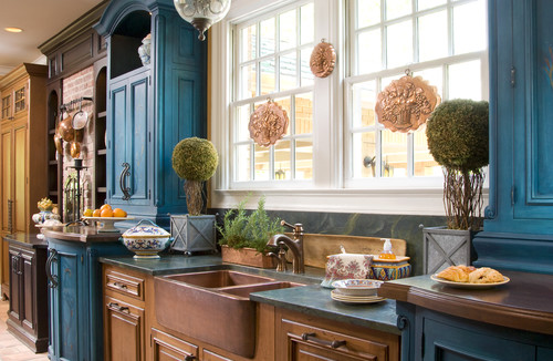two-toned cabinet options for kitchen remodel in houston