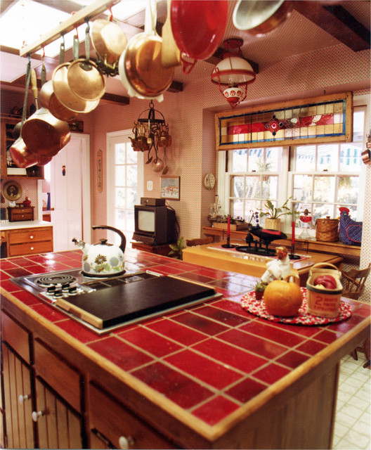 Rustic Red Kitchen: Rustic In Red Kitchen & Bath