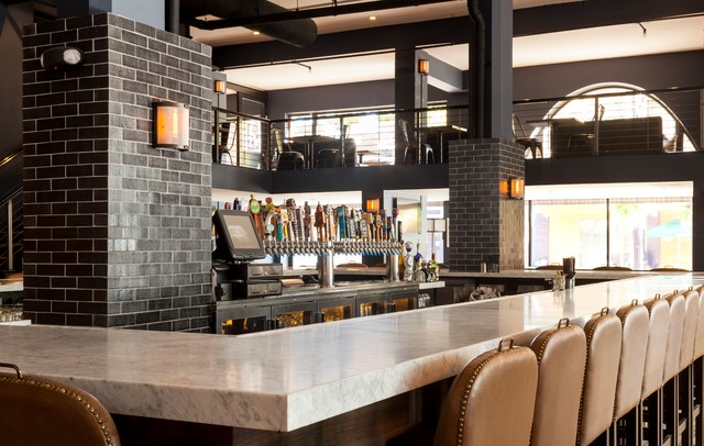 Rustic Industrial Restaurant in San Jose - industrial - kitchen