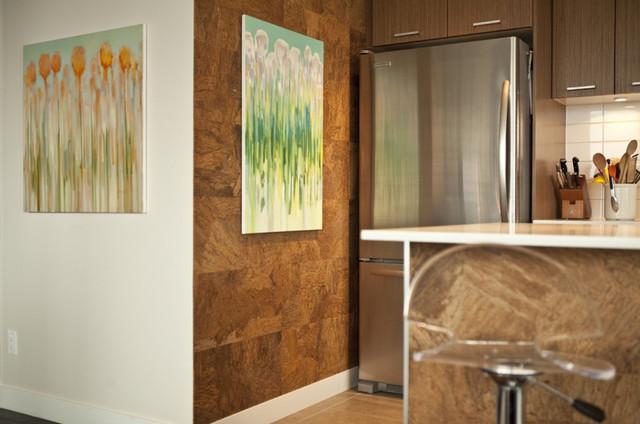 Rustic Industrial Urban Condo contemporary-kitchen