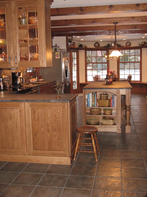 rustic kitchen center island eclectic kitchen