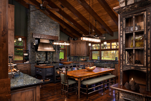 Dark Rustic Kitchen 5 ways to design a country style home
