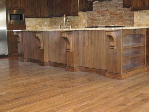 am having cabinets made in golden oak stain with mingled black