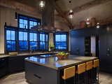 rustic kitchen We Can Dream: 28 Kitchens With Breathtaking Views (28 photos)