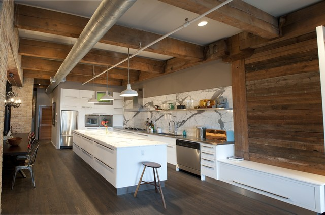 Erie Loft - Rustic - Kitchen - chicago - by moss