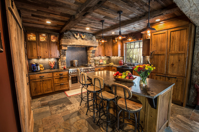 Rustic kitchen renovation for Casas viejas remodeladas