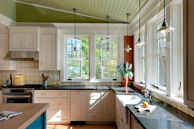 Curtains Ideas curtains for casement windows : Rustic Kitchen