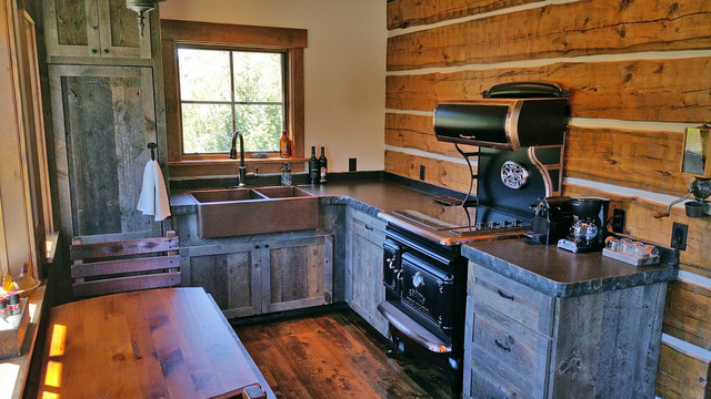 Warm River Cabin Rustic Kitchen
