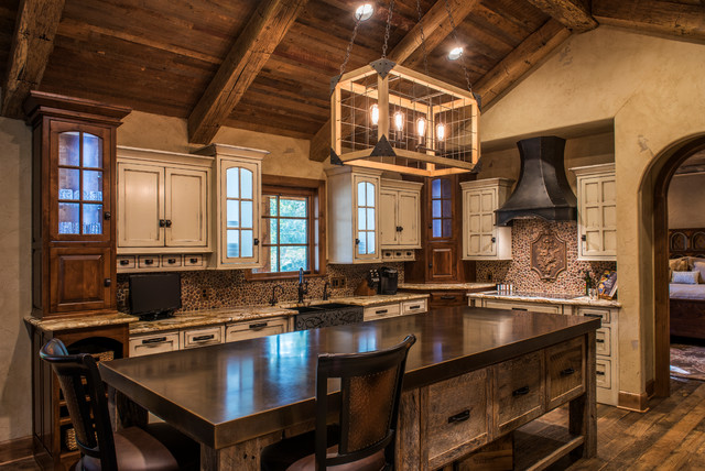 Rustic lake house rustic kitchen other metro by for Rustic lake house kitchens