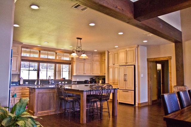Rustic Lake House transitional-kitchen