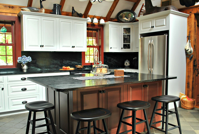 Rustic Lodge Kitchen Leominster Ma Rustic Kitchen Boston By Kitchen Associates