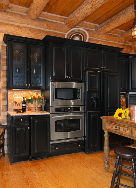Rustic Log Cabin Kitchen Rustic Kitchen Charlotte on Rustic Log Home Kitchen Designs