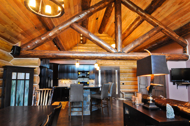 Rustic Log Cabin - Rustic - Kitchen - denver - by Mountain ...