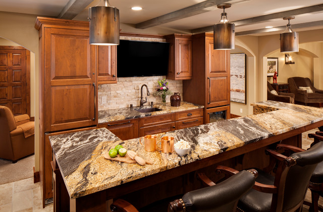 Inspiration for a rustic kitchen remodel in Milwaukee