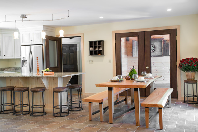 Rustic Maine Lake House Rustic Kitchen Portland Maine By The Good Home Interiors Design