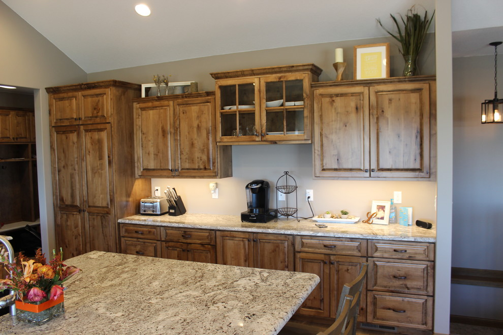 Rustic Maple & Painted Cabinets - Rustic - Kitchen - Other ...