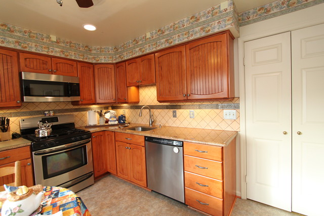 Rustic Maple Kitchen With Custom Made Cabinet Doors And