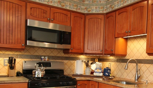 Rustic Maple Kitchen With Custom Made Cabinet Doors And Granite Counters Ru