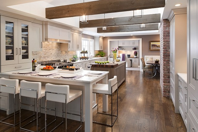 Rustic modern modern kitchen cleveland by davinci for Kitchen design houzz