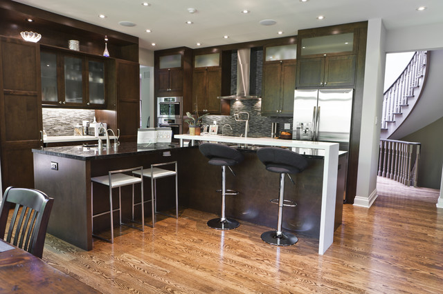Rustic Modern Kitchen And Family Room Contemporary Kitchen Toronto By