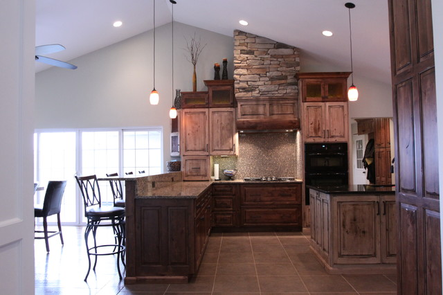 Rustic Kitchen Remodel Delectable Rustic Modern Kitchen Remodel  Rustic  Kitchen  Chicago . Design Decoration