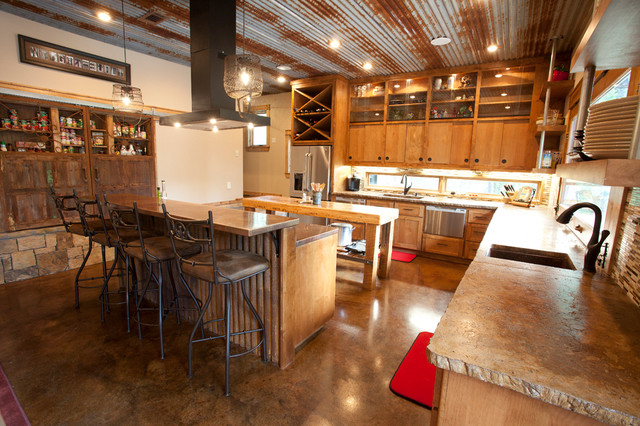 Rustic Kitchen Inspiration   Inspiration For A Rustic Kitchen Remodel In  Dallas With Concrete Countertops