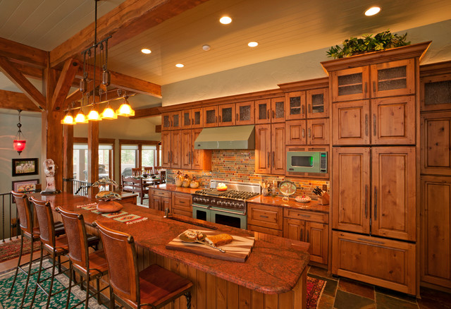 Rustic Mountain Home Rustic Kitchen By Fedewa Custom Works