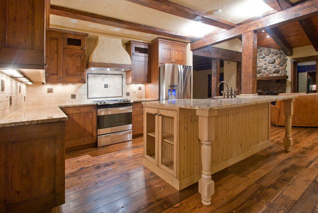 Rustic Mountain Home Rustic Kitchen Other Metro By