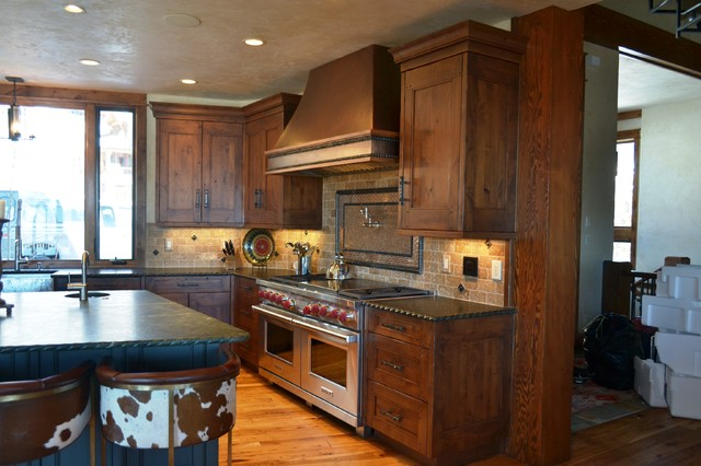 Rustic Mountain Homes Rustic Kitchen Other Metro