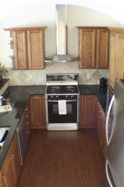 Rustic oak kitchen eclectic-kitchen