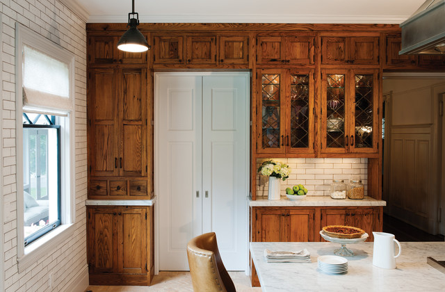 Rustic Reclaimed Chestnut - Rustic - Kitchen - other metro - by Crown Point Cabinetry