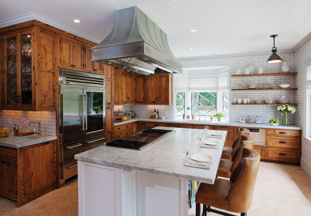 Rustic Reclaimed Chestnut - Rustic - Kitchen - other metro ...