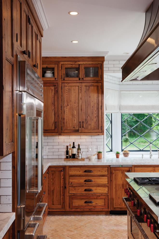 Mountain style kitchen photo in Burlington