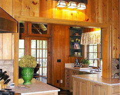 Rustic Retreat on Green Lake rustic kitchen