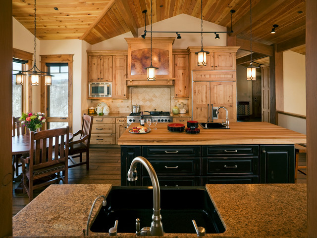 Rustic Ski Home Rustic Kitchen Denver By Cbnt Co