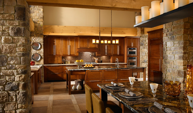Rustic Stone Kitchen Rustic Kitchen San Diego By