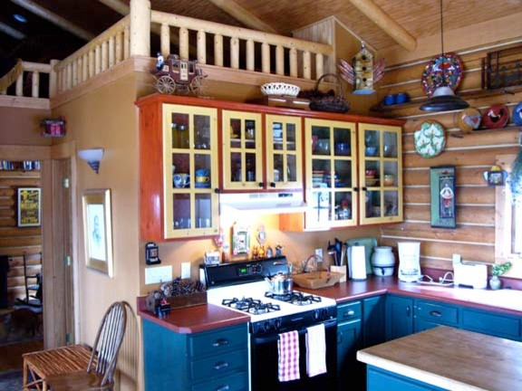 Rustic Style- Colorado Log Cabin eclectic-kitchen