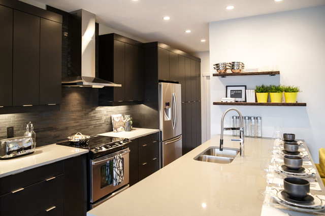 Rustic Urban City Contemporary Kitchen Calgary By Natalie