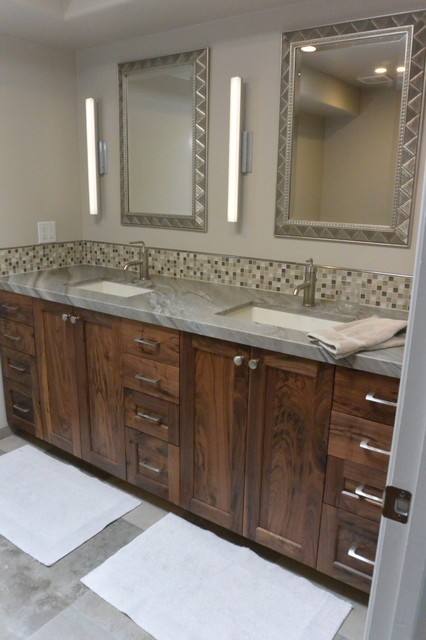 Rustic Walnut Cabinetry Transitional