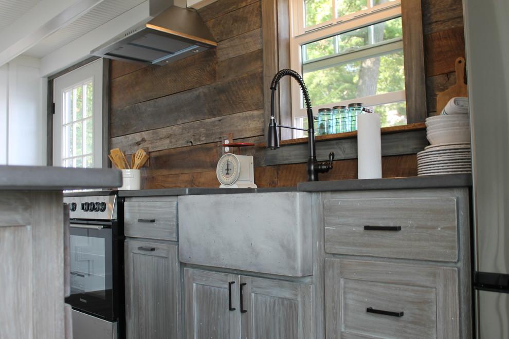 Rustic , White Oak Cabinets - Rustic - Kitchen - New York ...