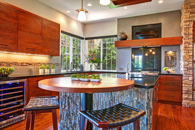 Rustic zen kitchen contemporary kitchen san diego for Zen style kitchen designs