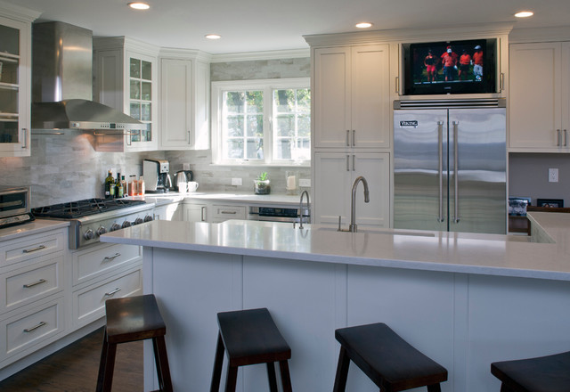 Rye ny project transitional kitchen new york by for Kitchen remodel raised ranch