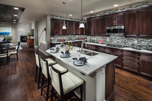 Model Home Kitchen Alluring Ryland Homes Mcclelland's Creek Vantage Model Home  Traditional 2017