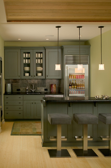 Lower Level Kitchenette contemporary-kitchen