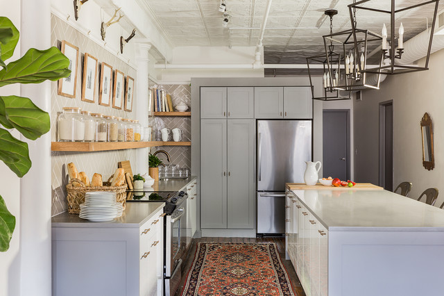 Sabbe Interior Design :: Leather District Loft Kitchen ...