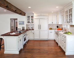 Saddle River Country Farm House traditional kitchen